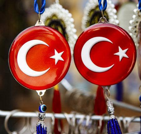 Jewelry with symbol of Turkey and an Evil Eye