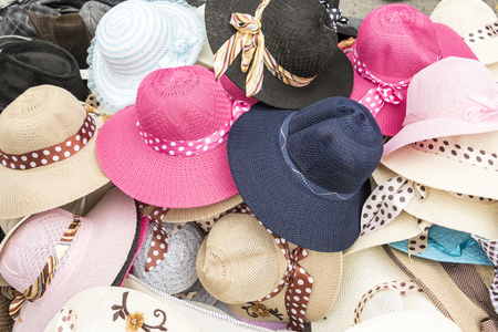 Pile of womens hats for sale