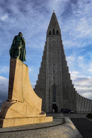 This Hallgrimskirkja church dominates the center of Reykjavik