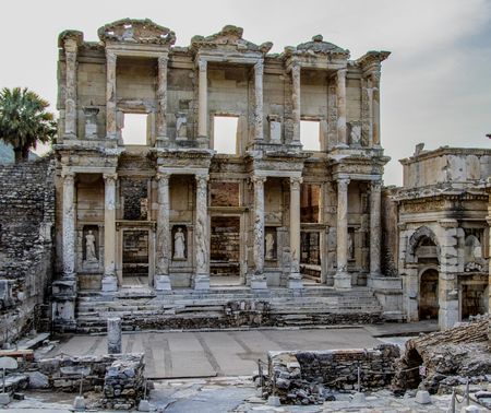 Ancient ruins of library of Ephesus, Turkey