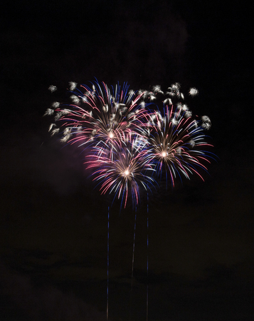 Closeup of isolated fireworks for compositing into your art