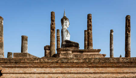 The Giant Buddha at Ayuthaya, Sukothai Thailand Stok Fotoğraf