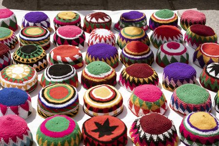 Muslim Skull Caps Are Displayed By Vendor for Sale.