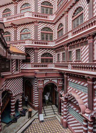 ED-Colombo, Sri Lanka - 2019-30-19 - Interior of Red Mosque of Colombo Sri Lanka.