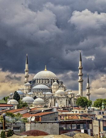 One of the 2990 active mosques in Instanbul, Turkey