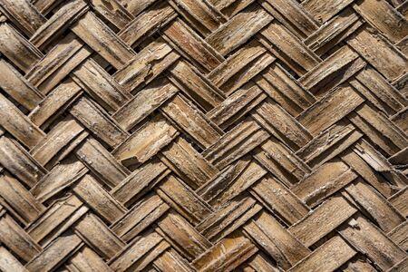 Background texture of woven bamboo patterns displayed Standard-Bild - 128584164