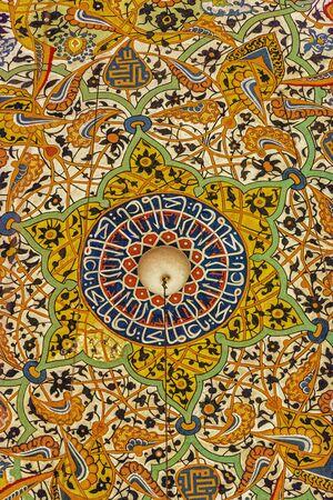 Tile engraving at Mevlana mausoleum in Konya, Cappadocia, Turkey