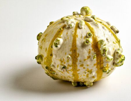One Decorative Gourd on a White Background