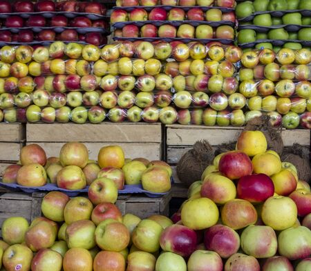 Apples for sale at a market in Amsterdam Imagens