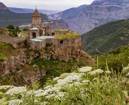 Looking down at Khor Virap monastery in Armenia Stock fotó