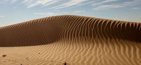 Sand dune with rippled pattern in Namibia Stock fotó