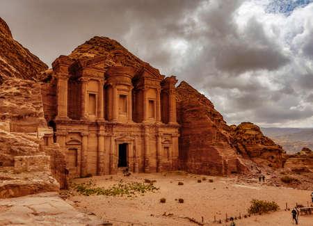The Treasury at Petra Ruins in Jordan.