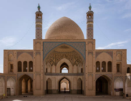 The Aqabozorg Mosque of Kashan Iran in Afternoon.