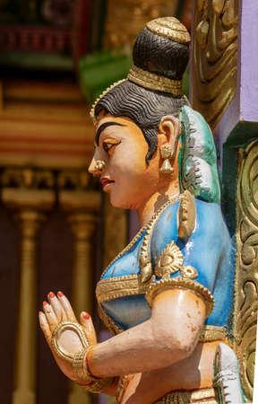 Hindu God Statues Surrounding Muthumariamman Temple in Kandy Sri Lanka.