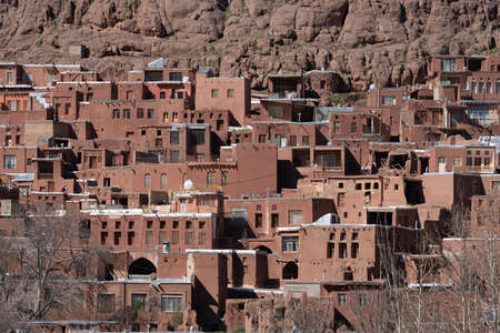 The hillside villiate of Abyaneh Iran in Late Afternoon.