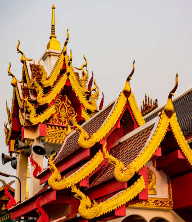 Rooftop Ridges and Spires at the Grand Palance in Bangkok. Foto de archivo