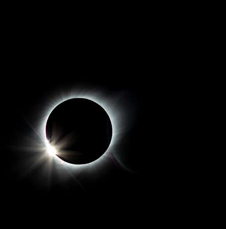 Solar Eclipse Seconds Before Totality Seen From Vacuna Chile on July 2, 2019.