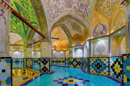 The Amir Ahmad Bath in Kahsan Iran. Stock Photo