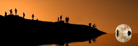 darkroom: sunset at zabriski in death valley - rendition