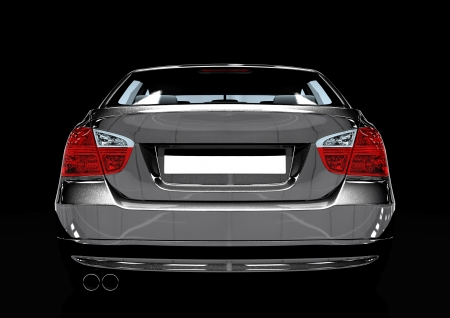 Back view of a luxury sedan car photo