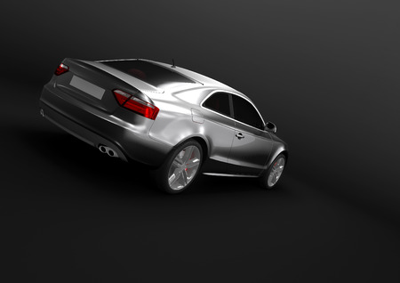 Back view of luxury car in a dark background Stock Photo