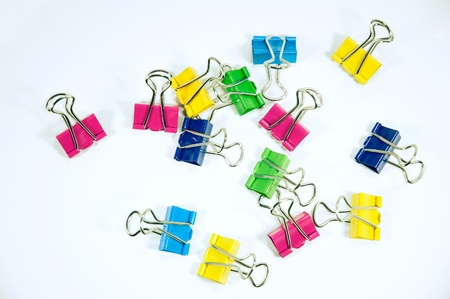 colorful clip on white background Stock Photo