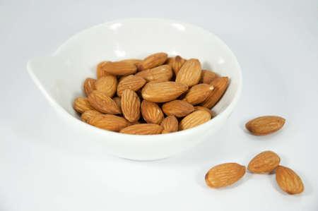almond and white dish Stock Photo
