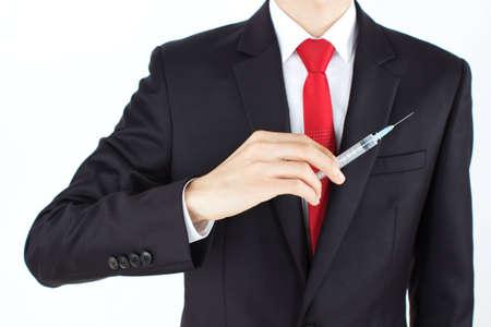 exemptions: Man holding needle