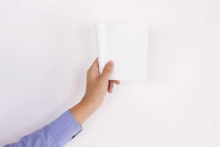 men holding notepad Stock Photo