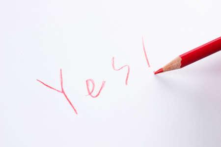 write YES