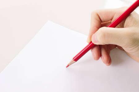 girls hand write something