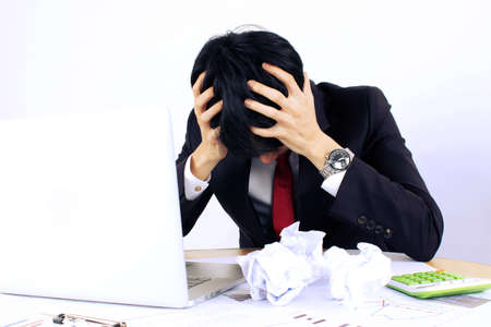 commotion: frustration Stock Photo
