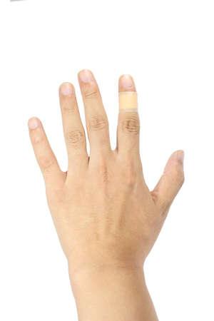 plaster on finger