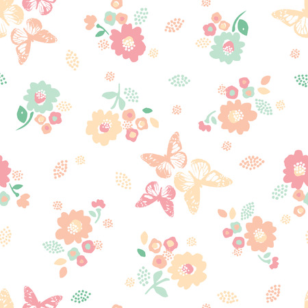 seamless: floral seamless pattern Illustration