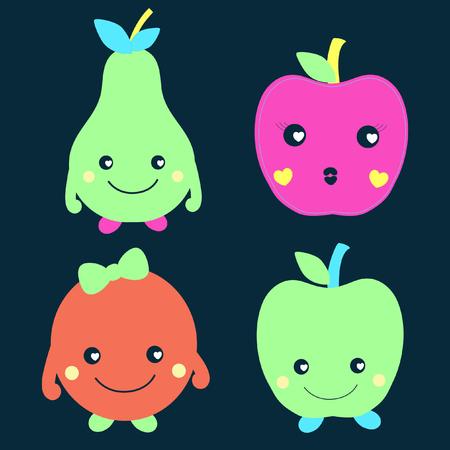 cute: cute fruits Illustration