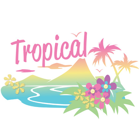 tropical: tropical pattern Illustration