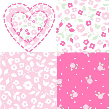 glamors: heart flower patterns Illustration