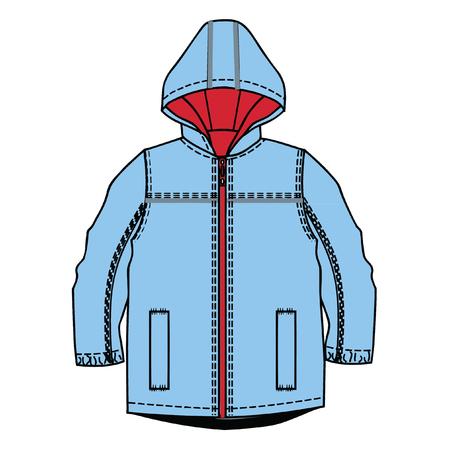 vector illustration. boys clothes template.