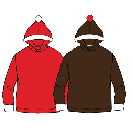 vector illustration. boys clothes template.