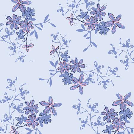 Patrón floral transparente en vector Foto de archivo - 90906556