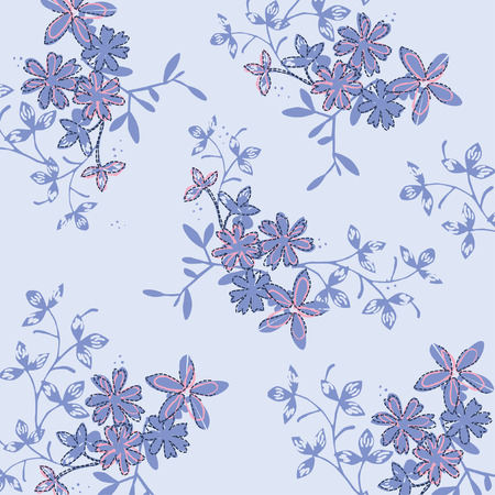 seamless floral pattern in vector Illustration