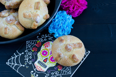 Mexican party, bread of death.