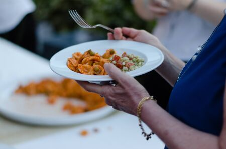 appetizing pasta with Italian sauce