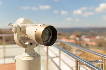 handheld device: Stationary observation binoculars in sity close up