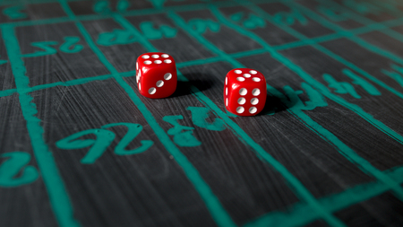 dice for gambling close up Stock Photo