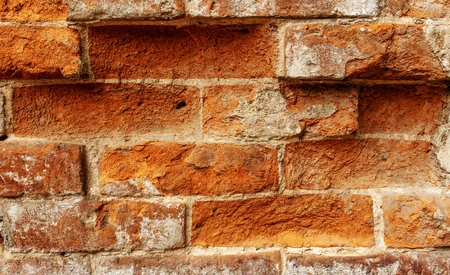 concrete surface finishing: old red brick wall texture background, abstract texture for design Stock Photo