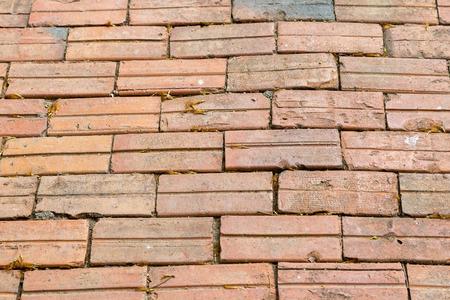 brick floor: Brick floor and wall background Stock Photo