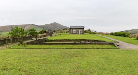 gang: Yangmingshan parque de la naci�n en la dinast�a Qing Tian Gang, Taipei el a�o 2016 Abr Foto de archivo