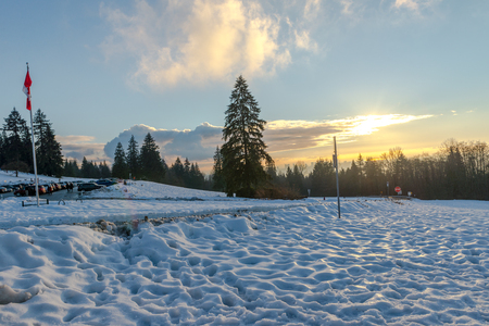 winter road: Burnaby Mountain�s before sunset, Vancouver Jan 2017.