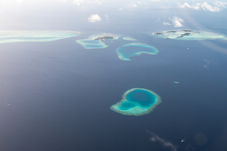 Above views for Luxury Resort in Maldives 免版税图像